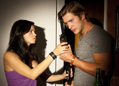 "She Made Them Do It  (L to R) Jenna Dewan Tatum (""Sarah"") and Greyston Holt (""Rick"") star in the Lifetime Original Movie, She Made Them Do It, premiering Saturday, December 29, at 8pm ET/PT on Lifetime. Photo by Diyah Pera"
