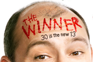 "Picture of ""The Winner"" actor and logo"