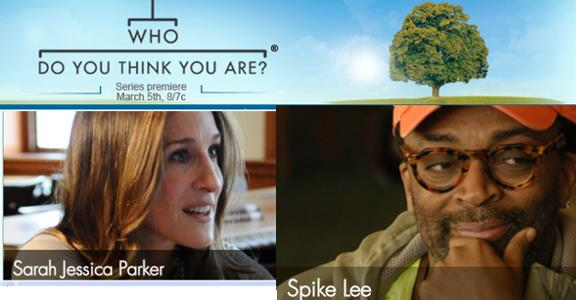 Who Do You Think You Are logo and SJP and Spike Lee