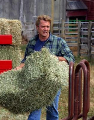 "Jonathan with hay in ""Extinction"""