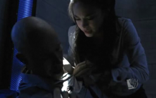 "Lana tending to a wounded Lex in ""Lockdown"""