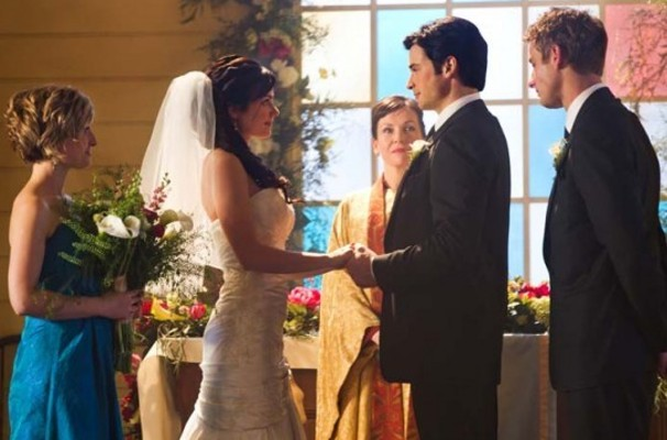 Lois and Clark's wedding