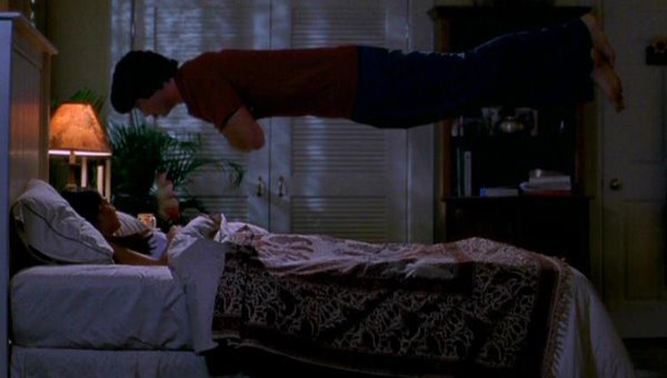 "picture of Clark floating above Lana's bed in ""Metamorphosis"""