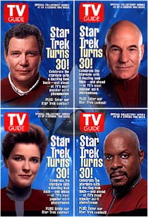 Star Trek captains on the cover of TV Guide