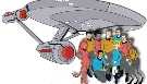 Star Trek animated cast and ship