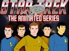Star Trek animated cast and logo