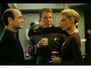 The Doctor, Tom Paris and Seven of Nine